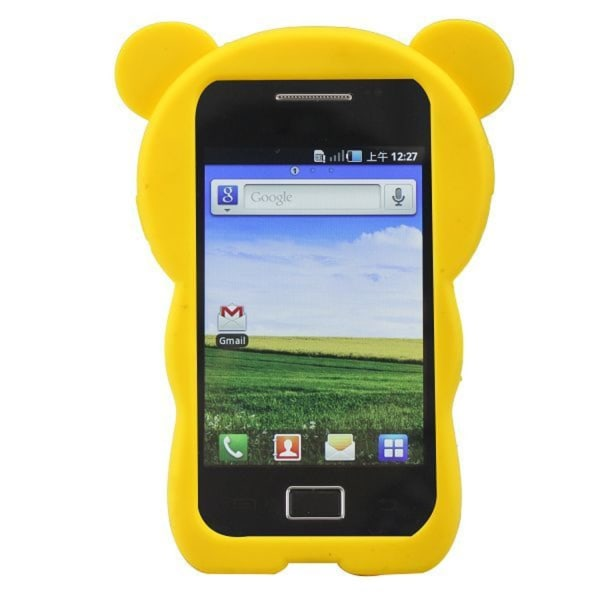 Cute Bear (Gul) Samsung Galaxy Ace Skal