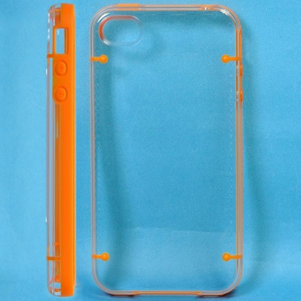 Dual Compound - Clear Back (Orange) iPhone 4S Skal