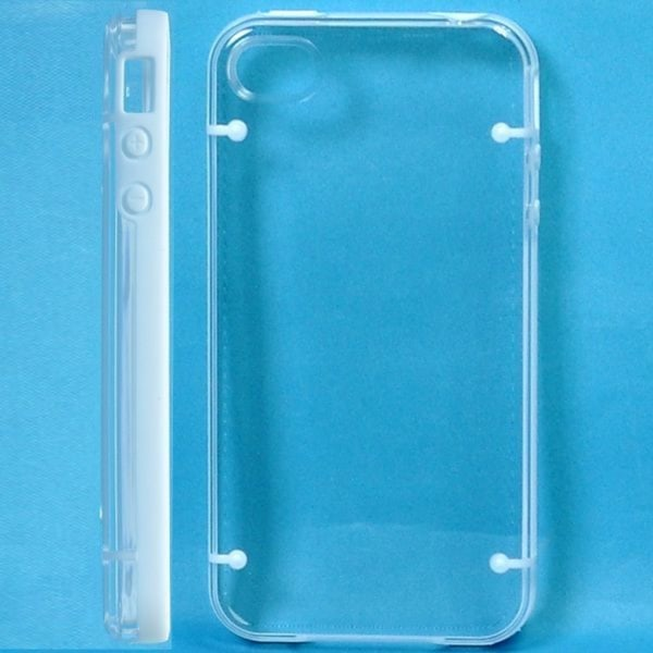 Dual Compound - Clear Back (Vit) iPhone 4S Skal