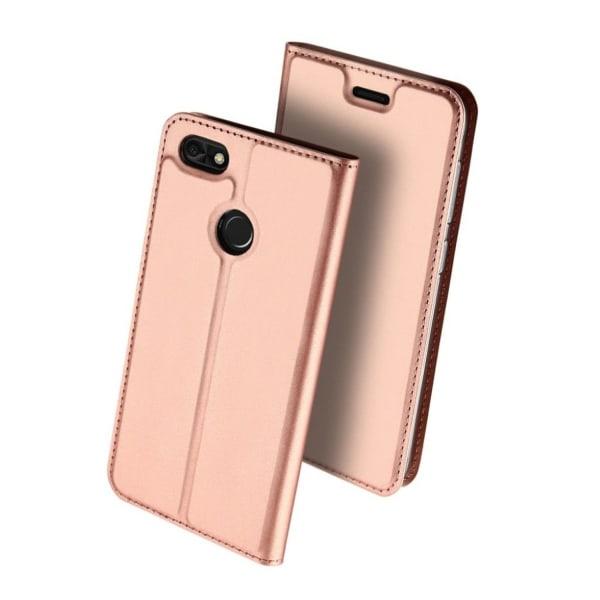 DUX Huawei P9 Lite Mini Stilrent skinn fodral - Rose guld