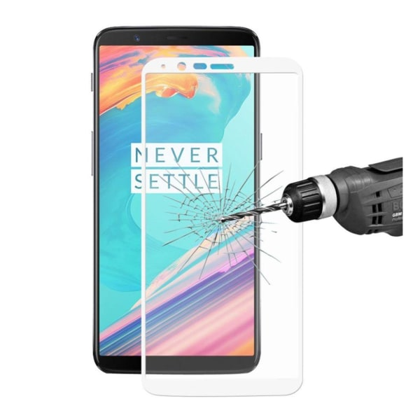ENKAY OnePlus 5T Extra glas med unik ram - Svart