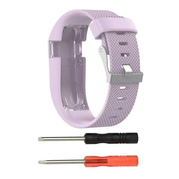 Fitbit Charge HR Stilrent silikon klockband - Storlek L Ljus