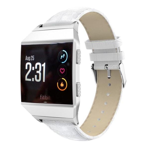Fitbit Ionic Krokodil designat klockband - Vit