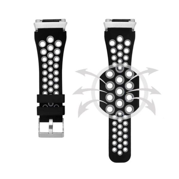 Fitbit Ionic Tvåfärgat silikon klockband - Svart grå