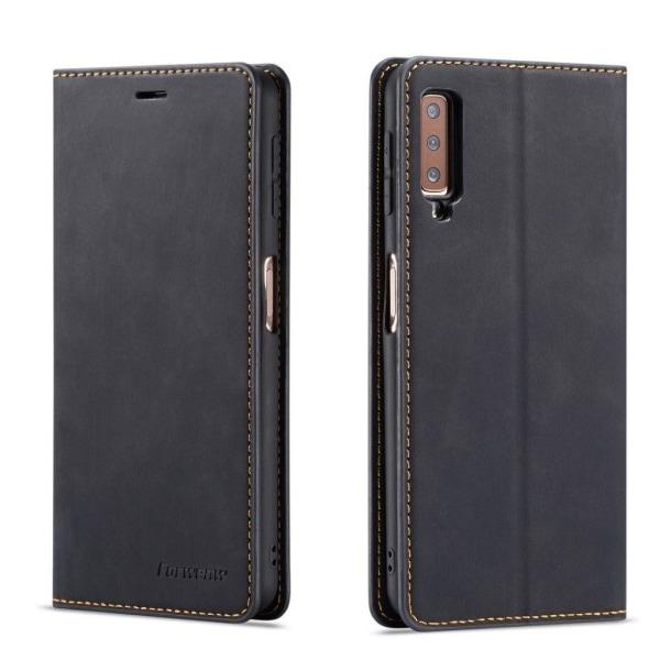 FORWENW Samsung Galaxy A7 (2018) plånboksfodral i läder - sv