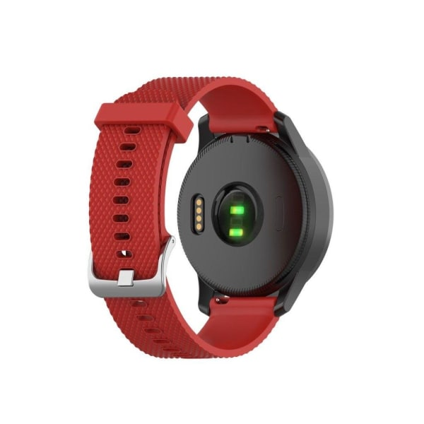 Garmin Vivoactive 4 silicone textured watch band - Red