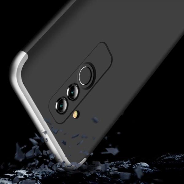 GKK Huawei Mate 20 Lite detachable matte case - Silver / Bla