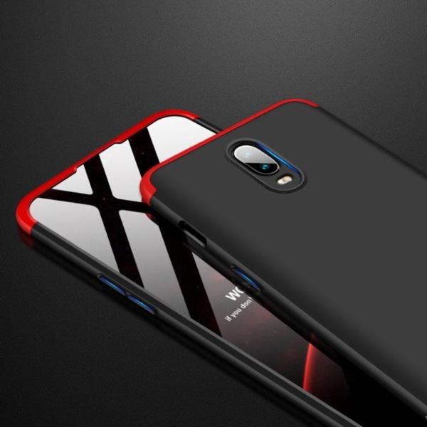 GKK OnePlus 6T detachable matte case - Red / Black