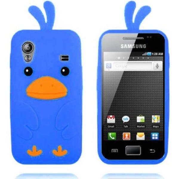 Happy Bird (Ljusblå) Samsung Galaxy Ace Silikonskal