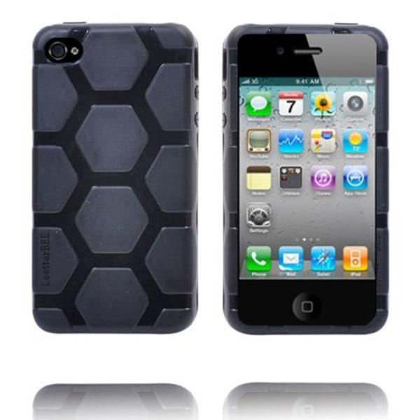 Hexagon Massive (Svart) iPhone 4S Silikonskal