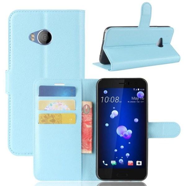 HTC U11 Life Läckert skinn fodral - Ljus blå