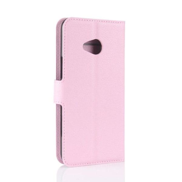 HTC U11 Life Läckert skinn fodral - Ljus rosa