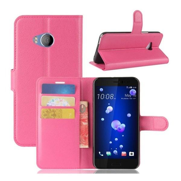 HTC U11 Life Läckert skinn fodral - Rosa