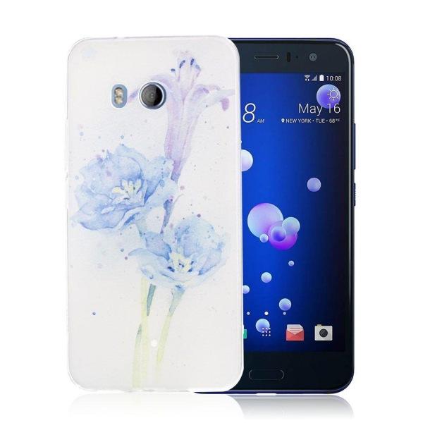 HTC U11 Skal med ett exotiskt motiv - Blå blomma