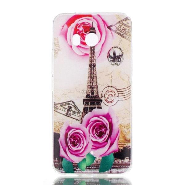 HTC U11 Skal med ett exotiskt motiv - Eiffeltornet och ros