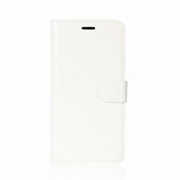 HTC U11 Skinn fodral med plånbok - Vit