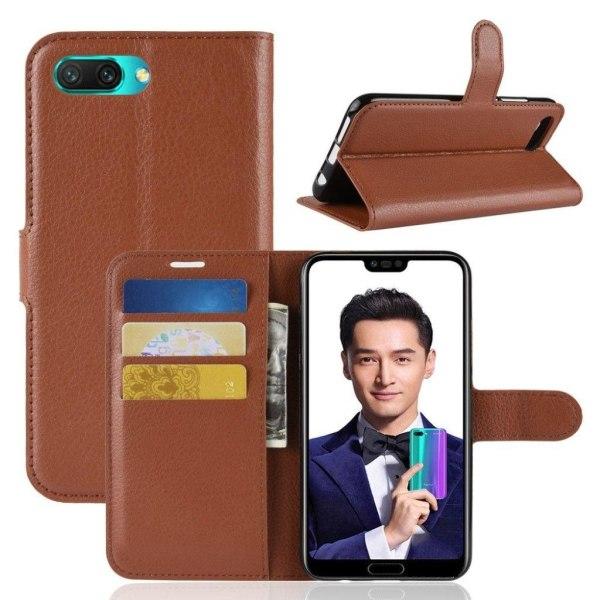 Huawei Honor 10 mobilfodral PU läder litchi textur stående l