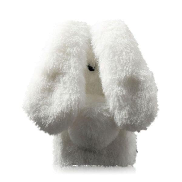 Huawei Honor 8 Fluffigt kanin skal - Vit