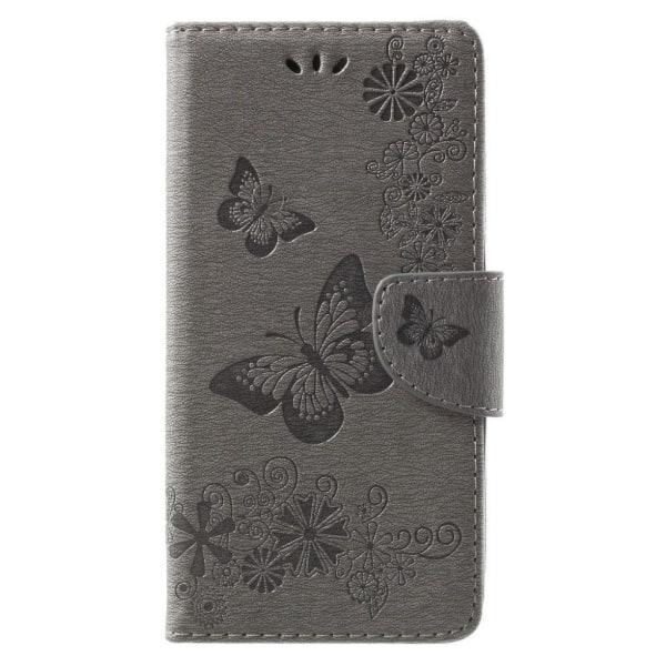 Huawei Mate 10 Lite Fodral med unikt fjärils tryck - Grå