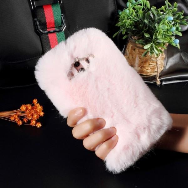 Huawei Mate 10 Pro Skal med päls - Rosa