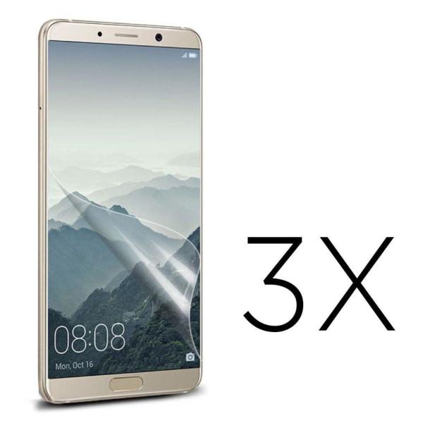 Huawei Mate 10 Pro Tre pack skydds film - Genomskinlig