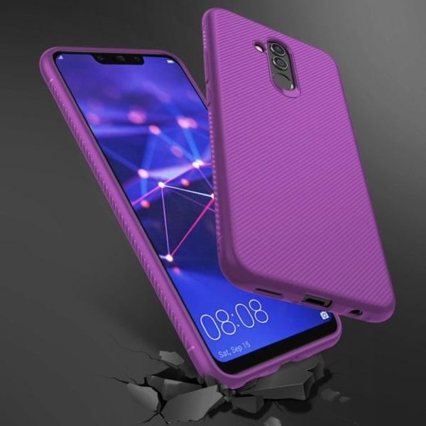 Huawei Mate 20 Lite mobilskal silikon tvill textur - Lila
