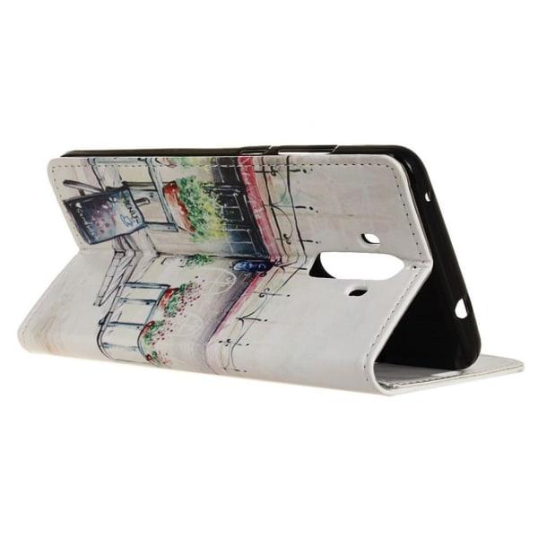 Huawei Mate 9 mönster läderfodral - Kaffe bar