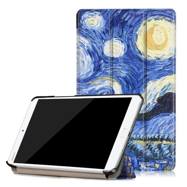 Huawei MediaPad M3 8.4 läderfodral - Stjärnnatt målning
