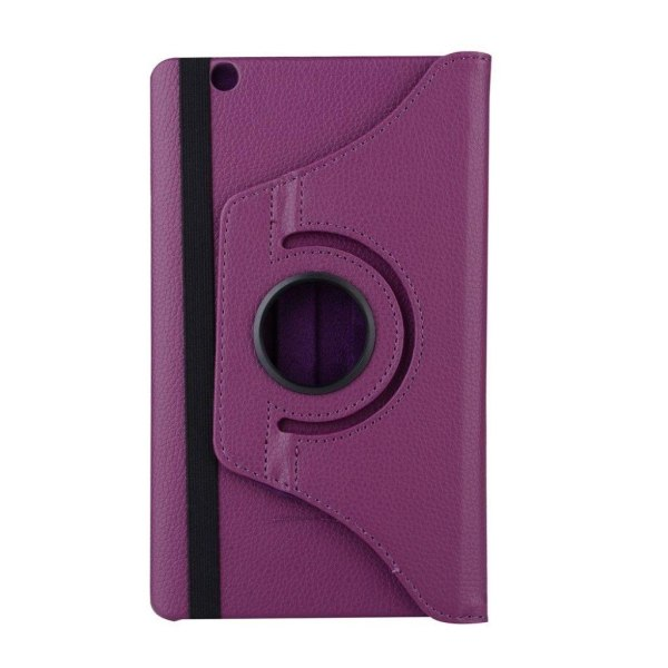 Huawei MediaPad M3 8.4 litchi läderfodral - Lila
