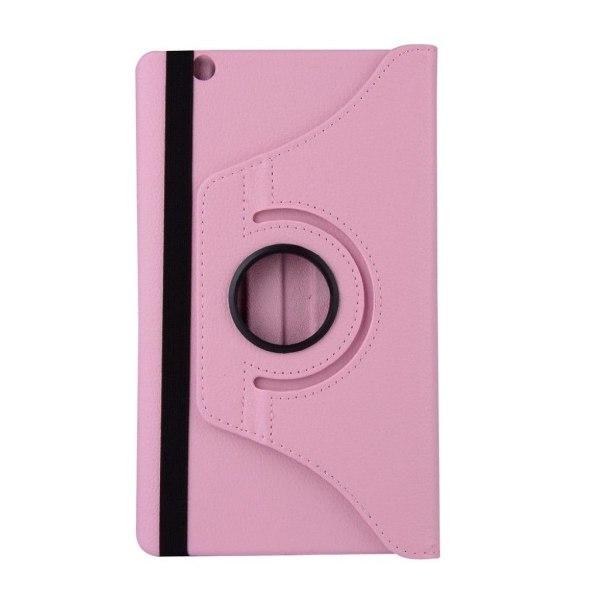 Huawei MediaPad M3 8.4 litchi läderfodral - Rosa