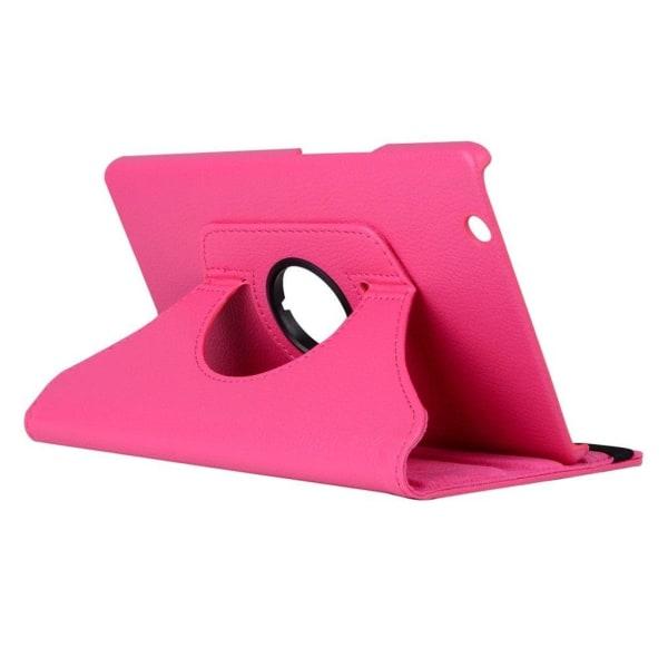 Huawei MediaPad M3 8.4 litchi läderfodral - Varm rosa