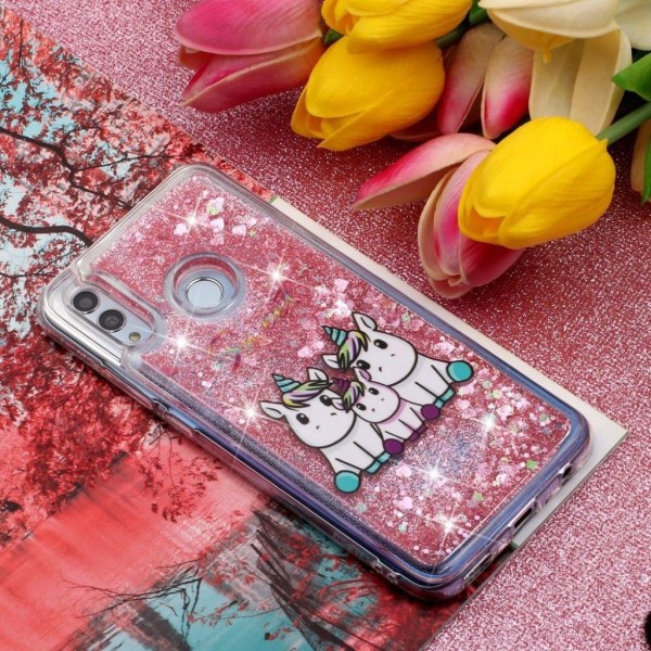 Huawei P Smart 2019 fodral med glitter paljetter - Enhörning