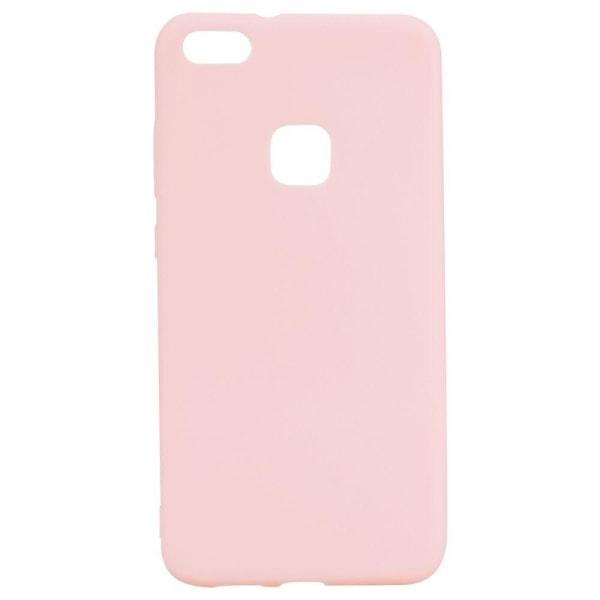 Huawei P10 Lite Enfärgat flexibelt skal - Rosa