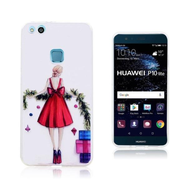 Huawei P10 Lite Skal med motiv på tjej - Tjej och planta