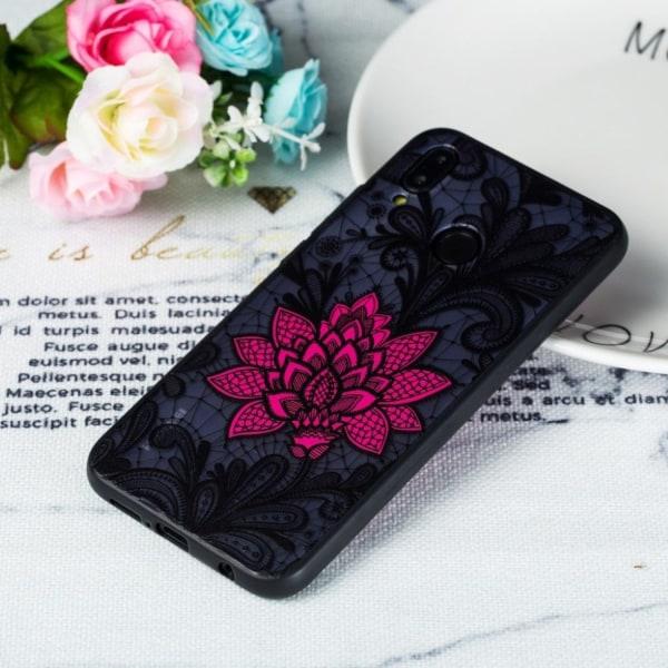 Huawei P20 Lite flower pattern hybrid case - Big Red Flower