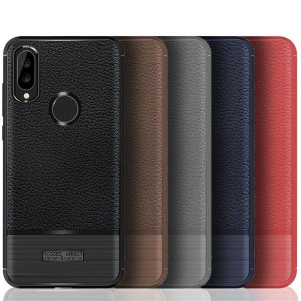 Huawei P20 Lite / Nova 3e mobilskal TPU material litchi text