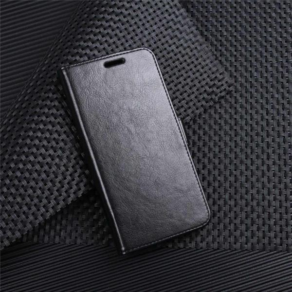 Huawei P9 Lite Mini Enfärgat fodral med plånbok - Svart