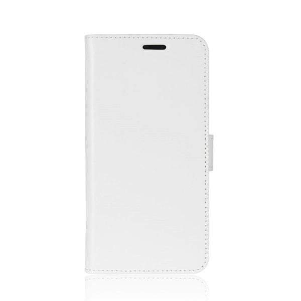 Huawei P9 Lite Mini Enfärgat fodral med plånbok - Vit