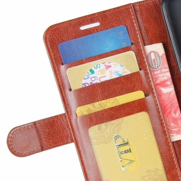 Huawei P9 Lite Mini Läder fodral med plånbok - Brun