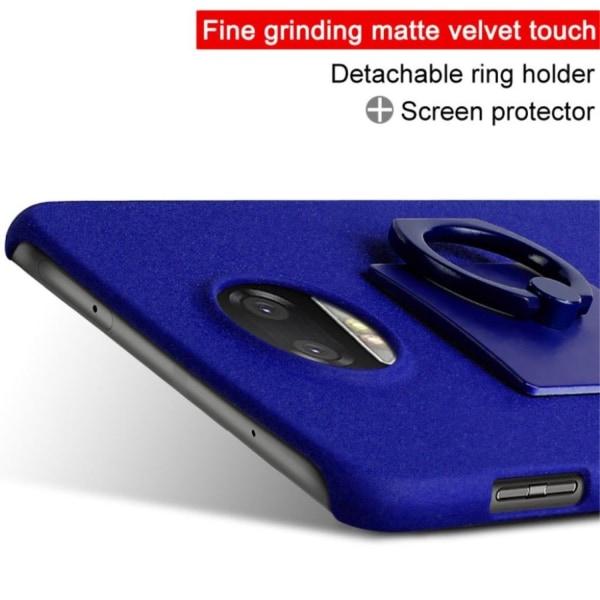 IMAK Motorola Moto Z2 Force Skal med en ring - Blå
