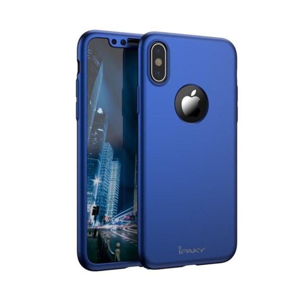 IPAKY iPhone X Läckert enfärgat skal - Blå