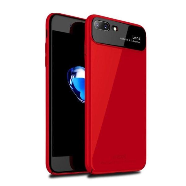 iPhone 7 Plus - 8 Plus mobilskal alumina glas plast - Röd