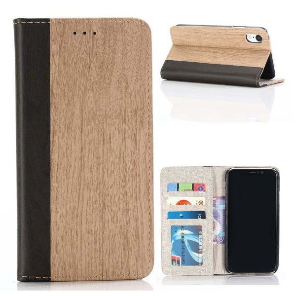 IPhone 9 mobilfodral syntetläder plast stående ställning plå