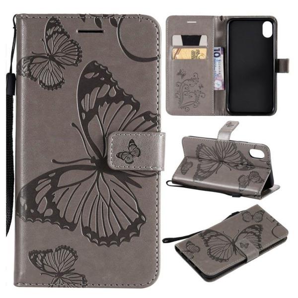 IPhone 9 mobilfodral syntetläder silikon plånbok stående fjä