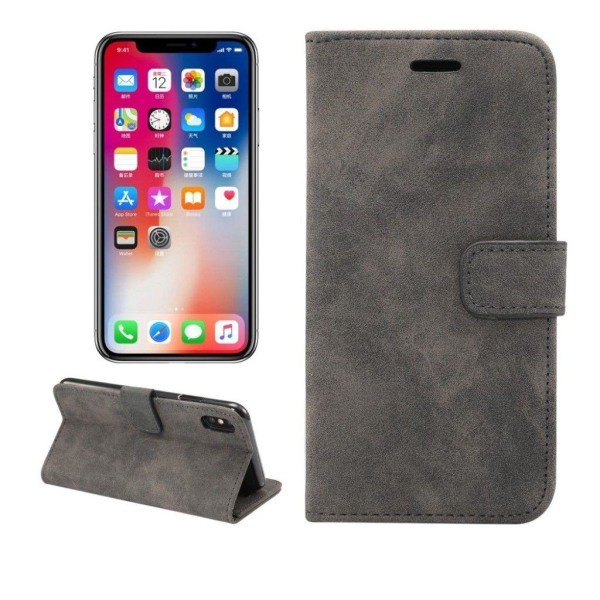 IPhone 9 mobilfodral syntetläder silikon stående plånbok ret