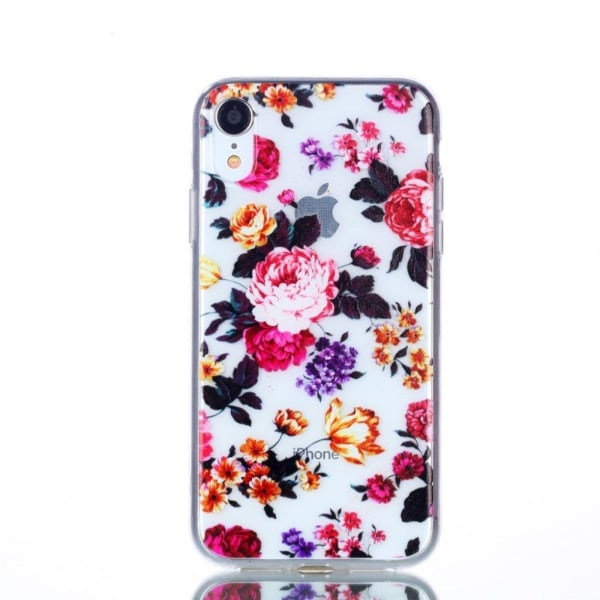 IPhone 9 mobilskal silikon mjuk tryckmönster - Vackra blommo