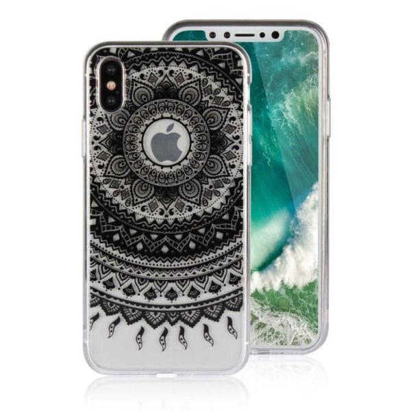 iPhone X Skal med mandal blomma - Svart
