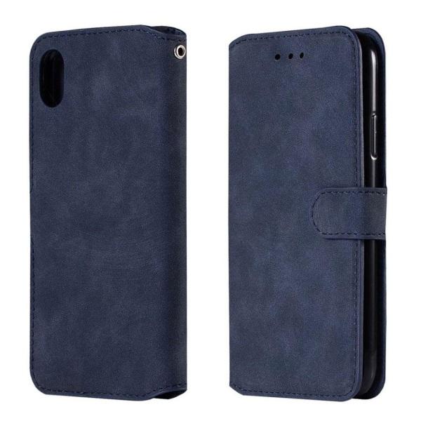 iPhone XR mobilfodral syntetläder silikon plånbok stående -