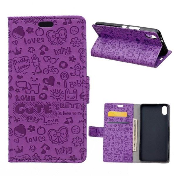iPhone XR mobilfodral syntetläder silikon stående plånbok -