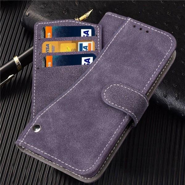 iPhone Xs Max mobilfodral syntetläder silikon plånbok ståend